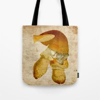 the mortal instruments Tote Bags featuring Mortal mushroom by Ganech joe