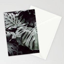 Tropical Leaves Cool Blue Stationery Cards