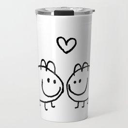 LOVE AND SHIT HAPPENS Travel Mug
