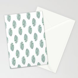 palm leaves in rows soft Stationery Cards