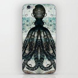 Octopus In Stormy Water iPhone Skin