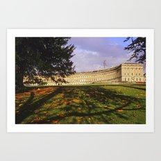 Royal Crescent Autumn Art Print