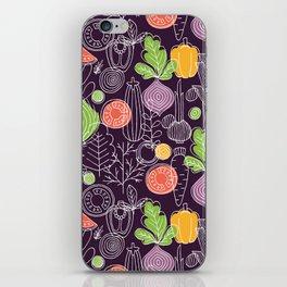 Vegetable Pattern Scandinavian Design iPhone Skin
