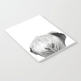 Black and white elephant animal jungle Notebook