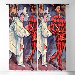 "Paul Cezanne ""Pierrot and Harlequin (Mardi gras)"", 1888 Blackout Curtain"