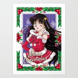 Merry Xmas Rei Art Print