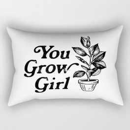 You Grow Girl Rectangular Pillow