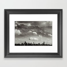 Chicago Skyline - Lone Cloud Framed Art Print