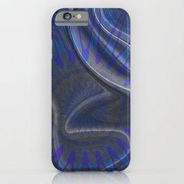 Indigo Blue Silk Boho Mandala Print iPhone Case