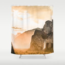 Yosemite Valley Burn - Sunrise Shower Curtain