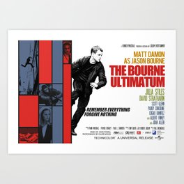 The Bourne Ultimatum Art Print