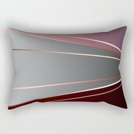 Pink, brown, grey, Golden Rectangular Pillow