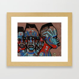 2018 Natives of the Planit of Warrior Means art by Marcellous Lovelace Framed Art Print