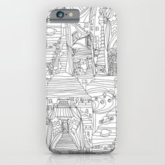 doodle cartoon village iPhone 6s Slim Case
