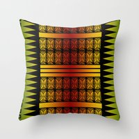 reggae Throw Pillows featuring Naimanu (in reggae colors) by Lonica Photography & Poly Designs