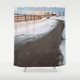 Winding Winter Road Shower Curtain