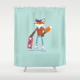 Twenty-First Century Fox Shower Curtain