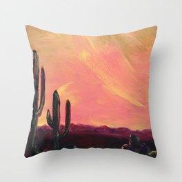 Desert Garden Throw Pillow