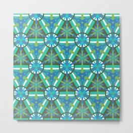 Ocean Geo - Geometric Pattern 1 Metal Print
