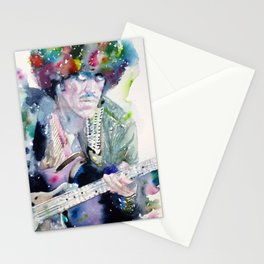 PHIL LYNOTT - watercolor portrait Stationery Cards