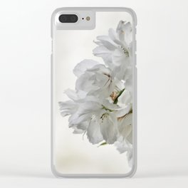 SPRING BLOSSOMS - IN WHITE - IN MEMORY OF MACKENZIE Clear iPhone Case