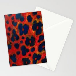 Red Leopard Print Stationery Cards