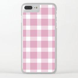 Plaid Bubble Gum Pink Clear iPhone Case