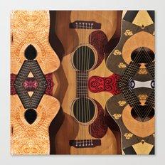 Guitar Reflections Canvas Print