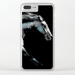 ' RACE ON ' Horse Racing Print by Shirley MacArthur Clear iPhone Case