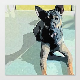 Doggie In The House Canvas Print