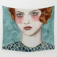 portrait Wall Tapestries featuring Sasha by Sofia Bonati