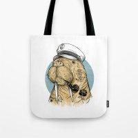 walrus Tote Bags featuring WALRUS by Thiago Bianchini