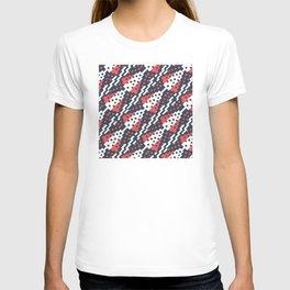 Chocktaw Geometric Square Cutout Pattern - Candy Cane USA T-shirt