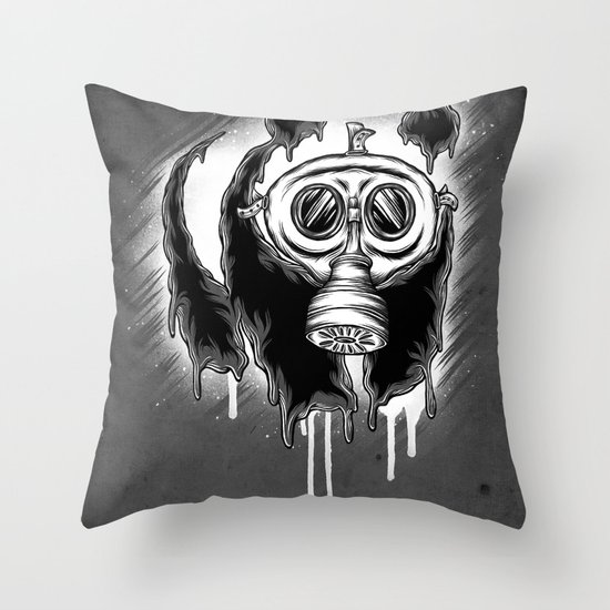 Choked Panda Throw Pillow