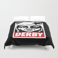 obey Duvet Covers featuring Obey Derby by Team Rapscallion