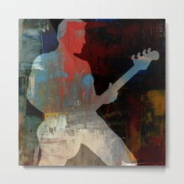 Man Playing Guitar Solo Metal Print