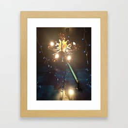 Glowing Flower Chandelier   Framed Art Print