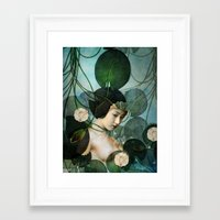 tangled Framed Art Prints featuring Tangled by Catrin Welz-Stein