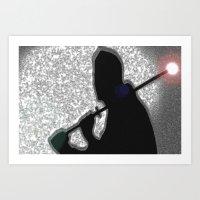 ninja Art Prints featuring Ninja by Samual Lewis Davis BMmSt CQU