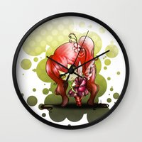 valentina Wall Clocks featuring Valentina by ASerna