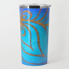 Golden net over the abyss Travel Mug