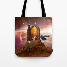 Mystical door in the universe Tote Bag