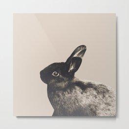Little Rabbit on Light Beige #1 #decor #art #society6 Metal Print
