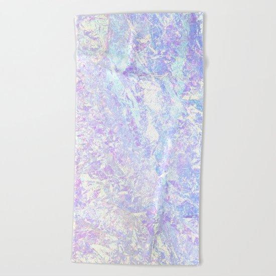 Iridescent Crystal Beach Towel