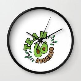 Hand Drawn Illustrations Team Avocado Gift Wall Clock