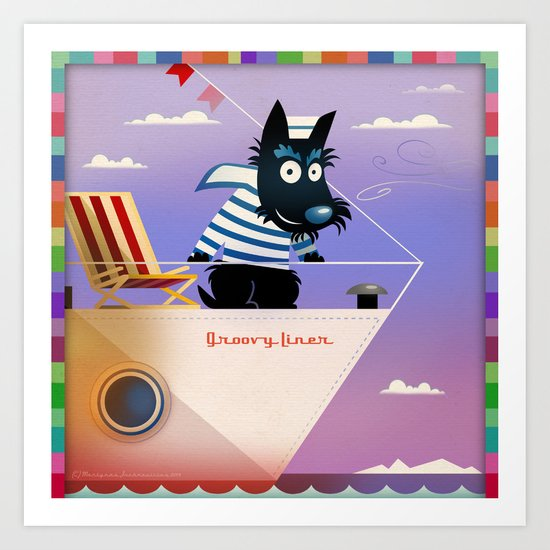 Scottie the sailor Art Print