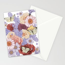Roses, Lilacs, and Daisies Stationery Cards