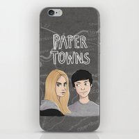 paper towns iPhone & iPod Skins featuring Paper Towns by Joan Pons