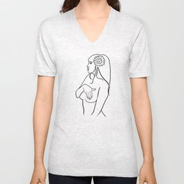 girl Unisex V-Neck