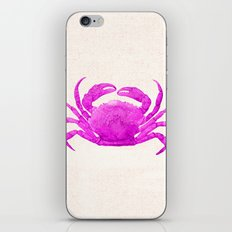 Nautical Pink Crab Linen iPhone & iPod Skin